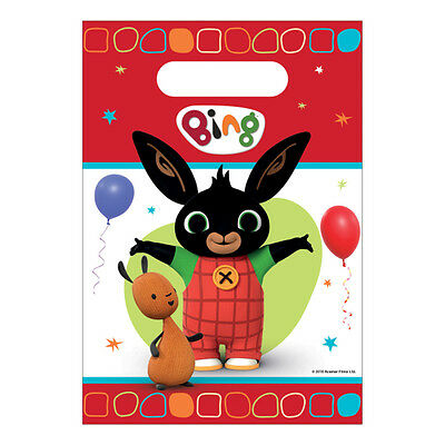 8 x Bing Childrens Birthday Party Loot Bags Bing Party Favours