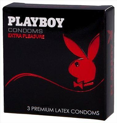 New Adult toys Playboy Condoms 3's Extra Pleasure