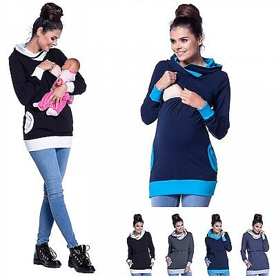 Zeta Ville - Women's breastfeeding top sweatshirt hoodie - nursing panel - 467c