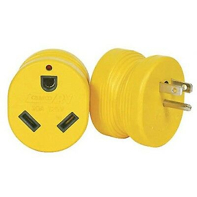 Camco 55223 RV 15M/30F AMP Power Grip Adapter buy more save more-quantity 1