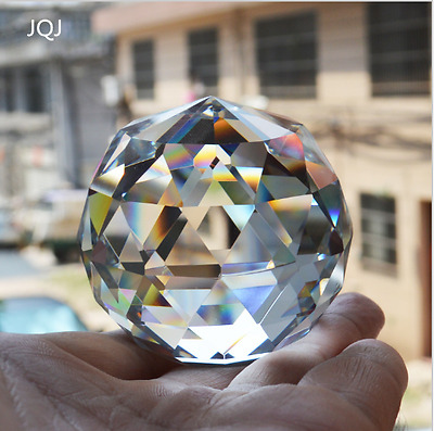 New Home Ornaments 6 CM Quartz Crystal Glass Faceted Ball natural stones
