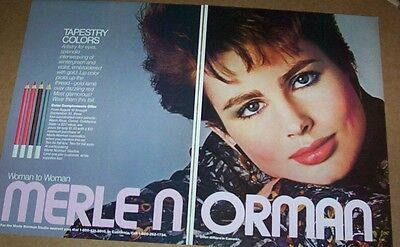 1986 print ad - Merle Norman Cosmetics PRETTY GIRL face make-up Vintage ADVERT