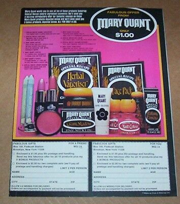 1975 vintage ad page - Mary Quant cosmetics PRINT ADVERT Advertising clipping