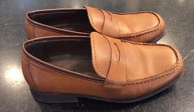 Boys Leather Kenneth Cole Reaction Dress Shoes Size 1 EUC