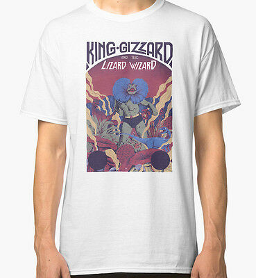 King Gizzard And The Lizard Wizard Men's White Tees Tshirt S - 3XL