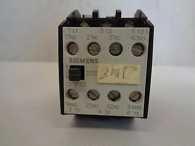 Siemens 3Tf4322-0A Contactor 110/120 V Coil