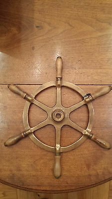 Antique Cast Brass Ship's Wheel