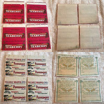 Clark's Teaberry And Peppermint Gum Wrappers Clark Brothers Chewing Gum Co