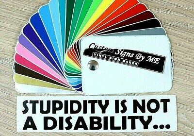 STUPIDITY IS NOT A DISABILITY Car Sticker JDM Vinyl Decal Window Bumper BLACK