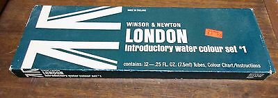 Winsor & Newton London Introductory Water Colour Set #1 with 12 - 7.5ml tubes