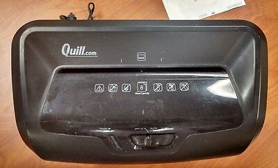 Quill Brand® 8-Sheet Cross-Cut Shredder; Black