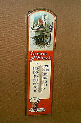 "1980s Vintage CREAM of WHEAT THERMOMETER Sign - ""Black"" Memorabilia - unused"