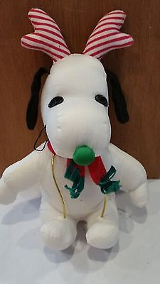 "Christmas Peanuts Snoopy Plush Stuffed Toy Doll ""SNOOPY WITH ANTLERS"""