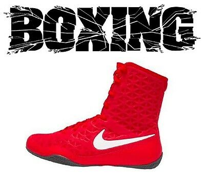 hot sale online e12b8 e1519 Nike KO Boxing Boots Shoes Boxer Fighter Boxschuhe Red White (600)  Boxstiefel