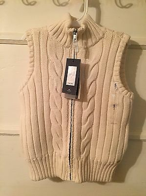 NWT Tommy Hilfiger Reversible Fur Girls' Sweater Vest Size S (6-7)