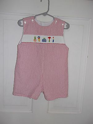 Boutique Petit Bebe' smocked shortall/one piece 24m Spring/Summer!! EUC!!