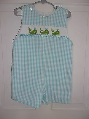 Boutique Petit Palace smocked shortall/one piece 3t Spring/Summer!! EUC!