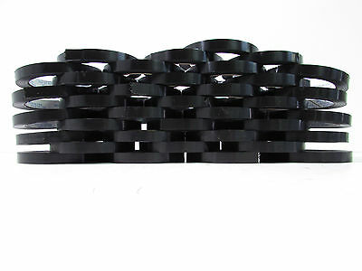 """Tensilized Polypropylene Black Strapping Tape 12Mmx55M (1/2""""x180') (Lot Of 36)"""