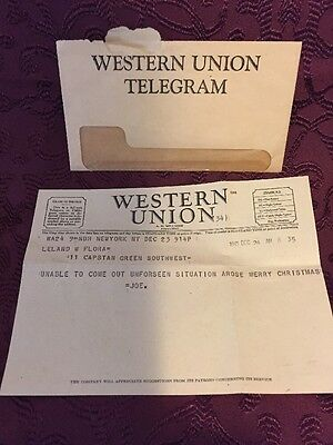 Authentic 1945 Western Union Telegram