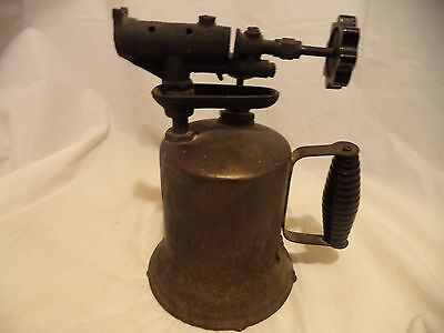 ANTIQUE VINTAGE GAS HAND HELD BRASS PLUMBERS TORCH Collectible
