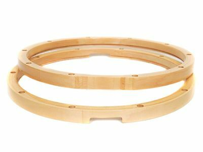 "Maple 14"" Wooden Snare Drum Hoops - PAIR - Made by Peace Drums"