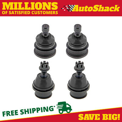 2 Upper and 2 Lower (4) Front Ball Joints fits Buick Chevy GMC Isuzu Olds Saab