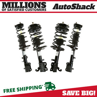 4 New Front & Rear Quick Complete Strut Assemblies Fits 1993-2002 Toyota Corolla
