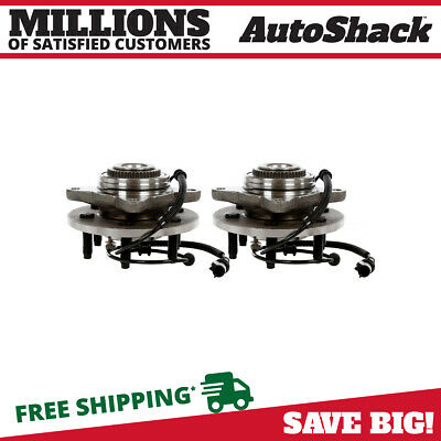 2 New Front Wheel Hub and Bearing Assembly for F-150 2005-2008 w/ ABS -4WD - 4x4