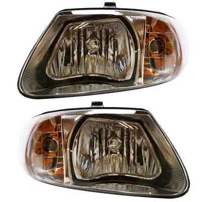New Set of 2 Headlights Left & Right Pair Set fits 01-07 Caravan Town & Country