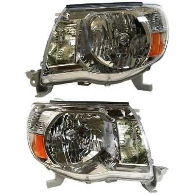 New Pair (2) of Left & Right Headlights Headlamps fits 2005-2011 Toyota Tacoma
