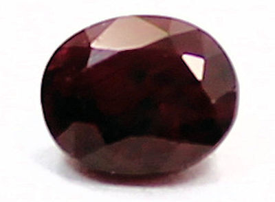 Amazing .50 Carat Oval Cut  Red Ruby