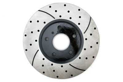 New Front Passenger Right Side Drilled Slotted Brake Rotor Fits Infiniti Nissan