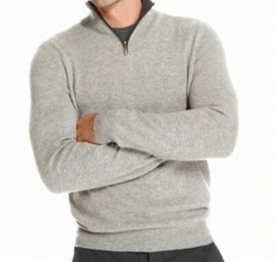 Club Room NEW Gray Heather Mens Size 3XLT 1/2 Zip Cashmere Sweater $199 079