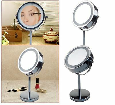 5 x Magnifying Round LED Illuminated Bathroom Make Up Shaving Cosmetic Mirror UK