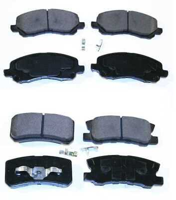 New Premium Front and Rear Set of 8 Semi Metallic Brake Pads for Mitsubishi Jeep