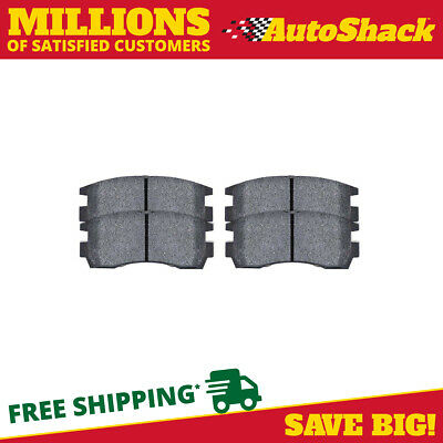 Set of Performance Rear Ceramic Disc Brake Pads with Rubberized Shims PCD698