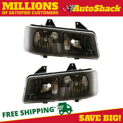 Pair of Front Headlight Assemblies fits 03-09 Chevrolet Express GMC Savana