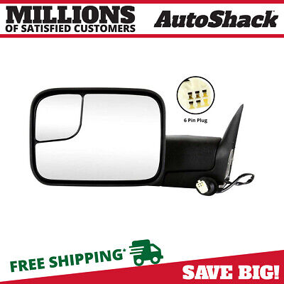 Power Heated Folding Extendable Left Side View Mirror Fits 98-02 Dodge Ram 1500