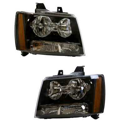 Fits 2007-2014 Chevy Suburban Tahoe Avalanche Headlights Aftermarket Left+Right