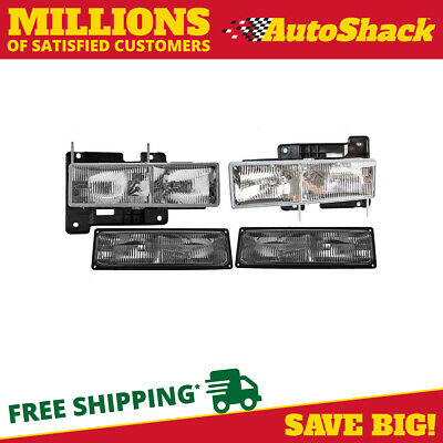 New 4PC Light Set 2 Headlights 2 Parking Signal Lights L/R fits GMC Chevrolet
