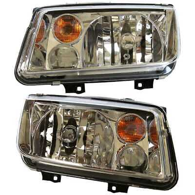 Pair of Front Left and Right Headlight Assemblies fits 02-05 Volkswagen Jetta