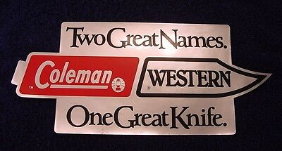 Coleman Western - Two Great Names. One Great Knife.  Store Sign Display Graphic