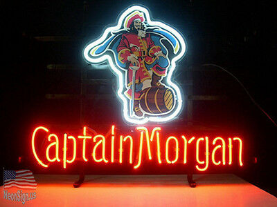 "Captain Morgan Rum Neon Light Sign 24""x20"" From USA"