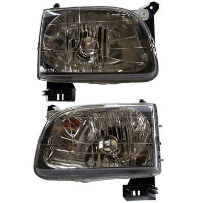 Pair of Front Left & Right Headlight Assemblies fits 01-04 Toyota Tacoma