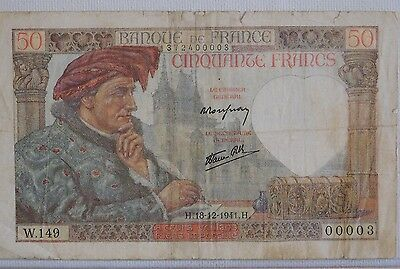 France  50 Francs 1941 Issue