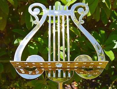 Music Stand, Solid Brass, Antique!!!  ****Rare****