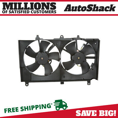 New Radiator Condenser Cooling Fan Assembly fits 03-05 Infiniti G35 Nissan 350Z