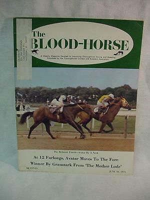 Blood Horse Magazine June 16, 1975 Avatar By A Neck