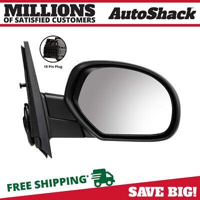 Black Power Heated Passenger Side View Mirror for GMC Chevrolet Cadillac Pickup