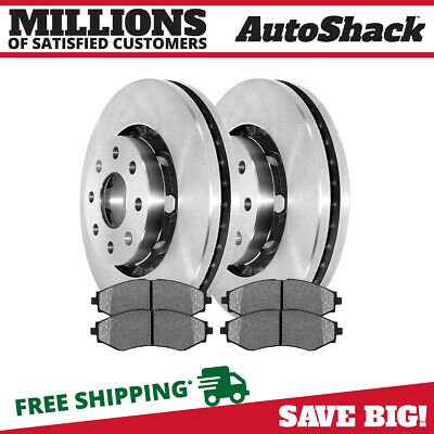 Premium Front Metallic Brake Pads And Disc Rotors Complete Kit Left & Right Pair